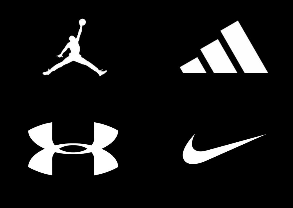 экспозиции спортивные бренды логотипы на одной картинке связать свою